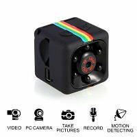 Мини камера FANGTUOSI sq11 1080P с аккумулятором. Видеорегистратор. Ночное видение.