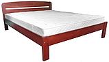 Ліжко півтораспальне в спальню, дитячу Октавія 1 (Бук)140*200 Неомеблі, фото 2