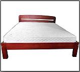 Ліжко півтораспальне в спальню, дитячу Октавія 1 (Бук)140*200 Неомеблі, фото 3