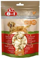 Кость 8in1 Value Bag, для очищения зубов от налета, с куриным мясом, XS/7см, 660323 /102533
