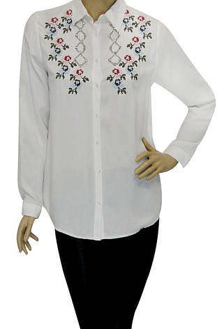 Вишита жіноча сорочка- блузка, фото 2