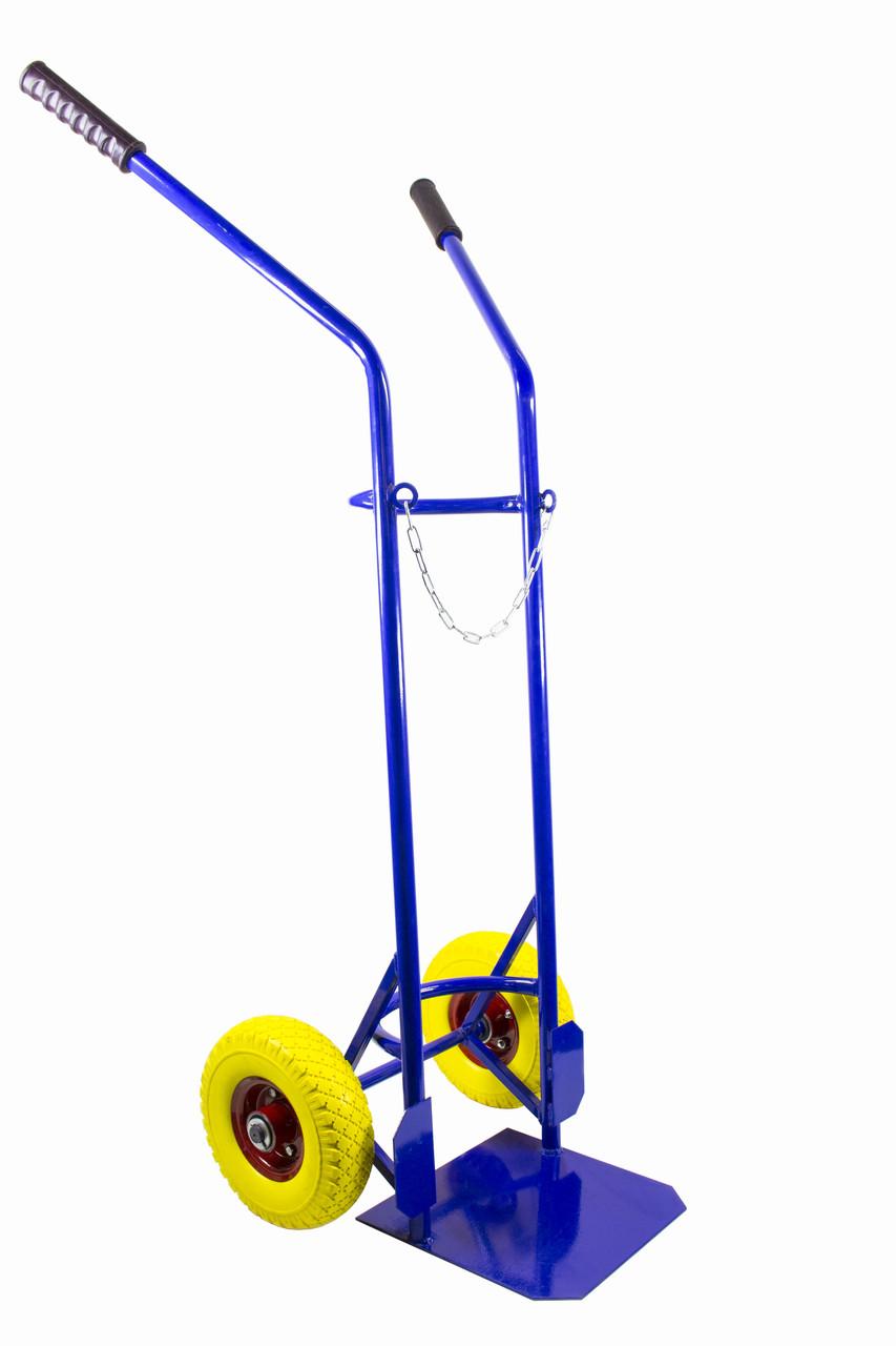 Тележка для кислородных баллонов ТС-09Пу ТАНДЕМ на колесах из пенополиуретана
