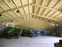 Утепление овощехранилищ, фруктохранилищ, зернохранилищ напылением пенополиуретана (ППУ)