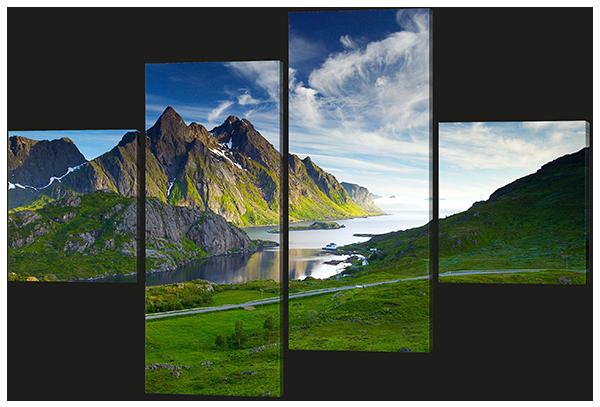 Модульная картина Interno Холст Вид на лагуну 186х128см (R595XXL)