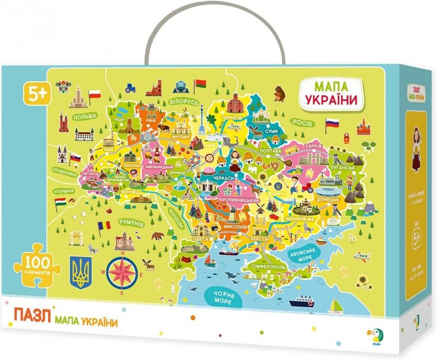 "Пазл ""Мапа України"". Розвиваюча дитяча гра Dodo"