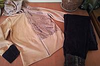 Модный велюровый женский спортивный костюм,  Турция
