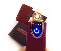 Зажигалка USB сенсорная электроимпульсовая,спиральная,, фото 1