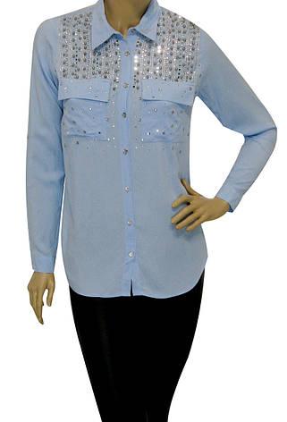 Жіноча сорочка з стразами, фото 2