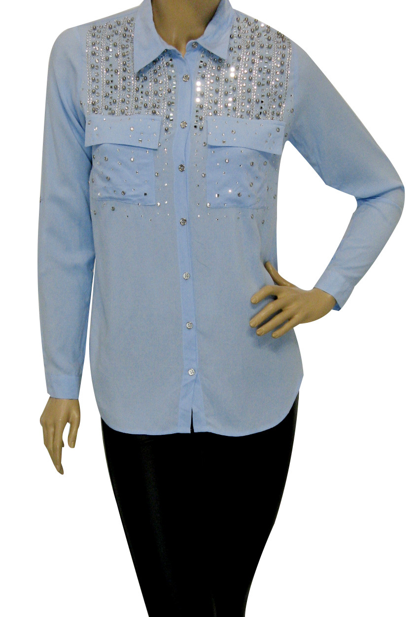 Жіноча сорочка з стразами