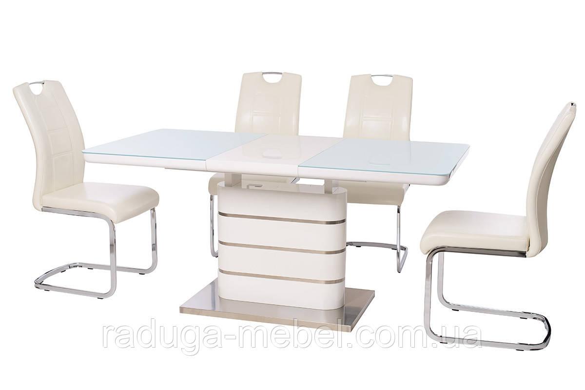 Стол кухонный обеденный белый TМ-52-1