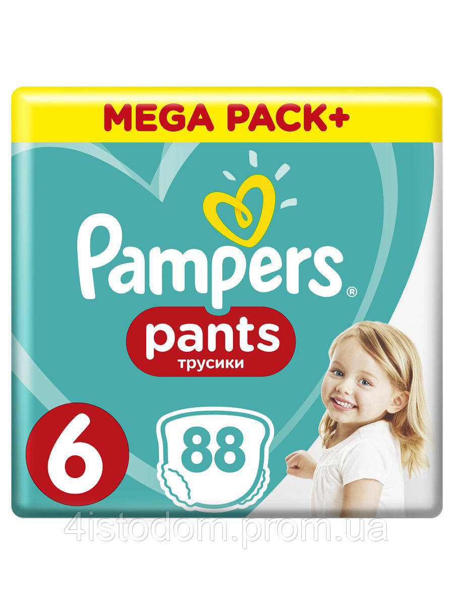 Подгузники-трусики Pampers Pants  6, 15+ кг, 88 шт