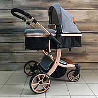 НОВАЯ детская коляска 2в1 Aimile (серая) для новорождённых