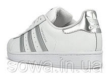"✔️ Кроссовки Adidas Superstar ""White Silver""  , фото 3"