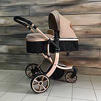 НОВАЯ детская коляска 2в1 Aimile (золотая) для новорождённых