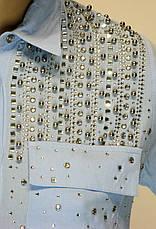 Жіноча сорочка з стразами, фото 3