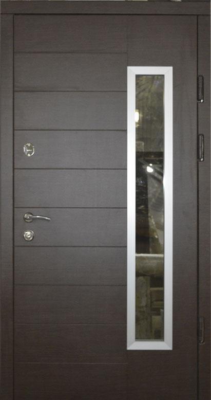 Двери уличные, PRESTIGE 970*2050, модель МЛ20, 2 замка, стеклопакет