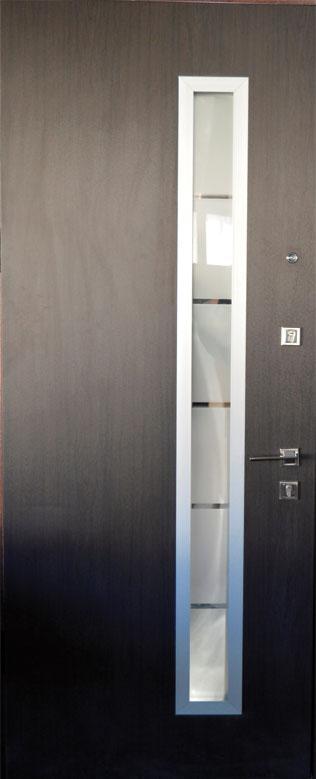 Двери уличные, модель 20-44, 970х2050мм. Prestige, коробка 110мм, стеклопакет