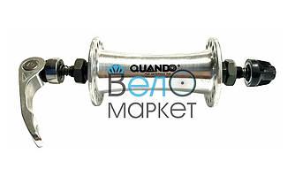 Втулка задня QUANDO KT-C15F, срібна, на 36 спиць, на кулях, ексцентрик
