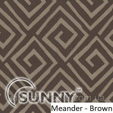 Рулонные шторы для окон в открытой системе Sunny, ткань Meander