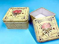 Набор жестяных коробочек 2 в 1 «yellow flowers», фото 1