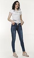 Модные женские джинсы лосины на резинке 46 размера светло-синие