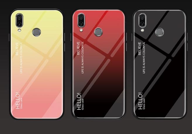Чехол-накладка HELLO TPU + Gradient для Xiaomi Redmi Note 7 / Note Pro / стекла /