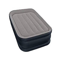 Надувная кровать со встроенным насосом Intex  198*99*42 см