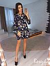 Платье-трапеция под пояс с оборкой 66plt2469, фото 2