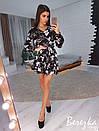 Платье-трапеция под пояс с оборкой 66plt2469, фото 4