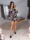 Платье-трапеция под пояс с оборкой 66plt2469, фото 8