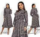 Женское платье леопардовое в больших размерах с оборками 1blr1475, фото 2