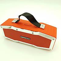 Беспроводная аккумуляторная колонка Bluetooth акустика FM MP3 AUX USB Hopestar A9 красный
