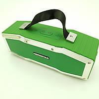 Беспроводная аккумуляторная колонка Bluetooth акустика FM MP3 AUX USB Hopestar A9 зеленый