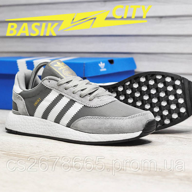Мужские кроссовки Adidas Iniki Light Gray