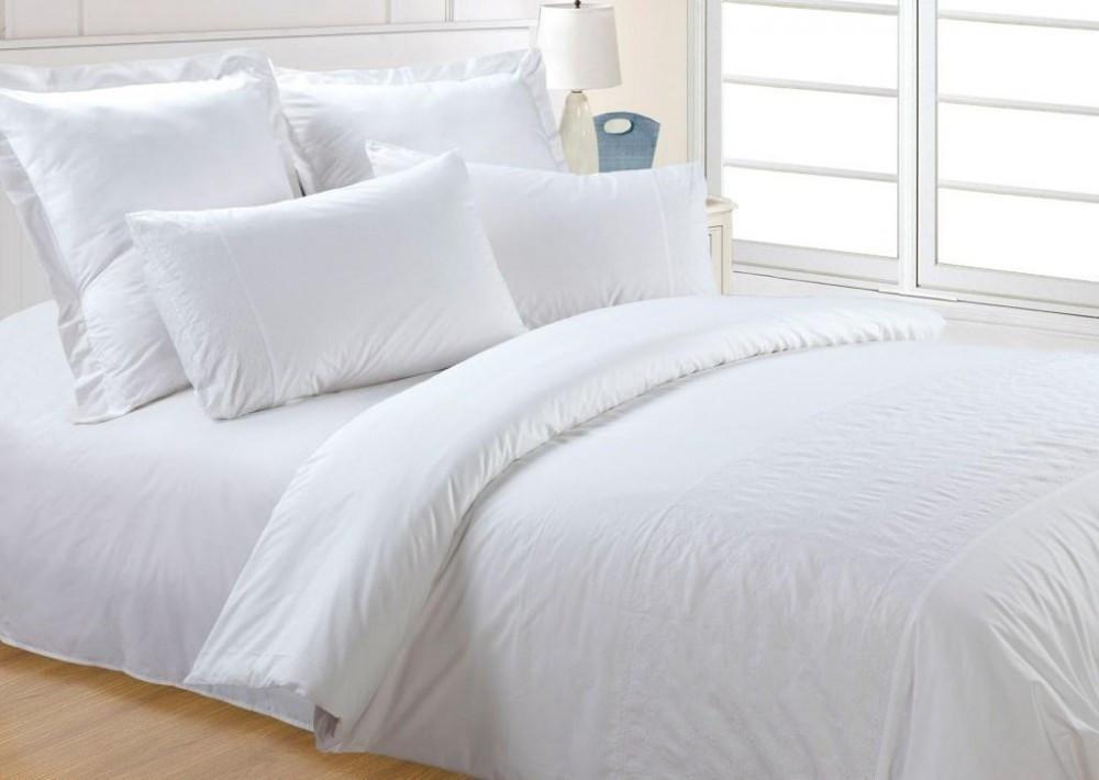 Комплект постельного белья отельный перкаль евро 200х220