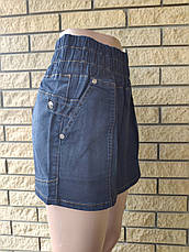 Юбка  женская джинсовая стрейчевая на резинке PRATOO, Турция, фото 2