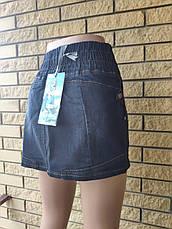 Юбка  женская джинсовая стрейчевая на резинке PRATOO, Турция, фото 3