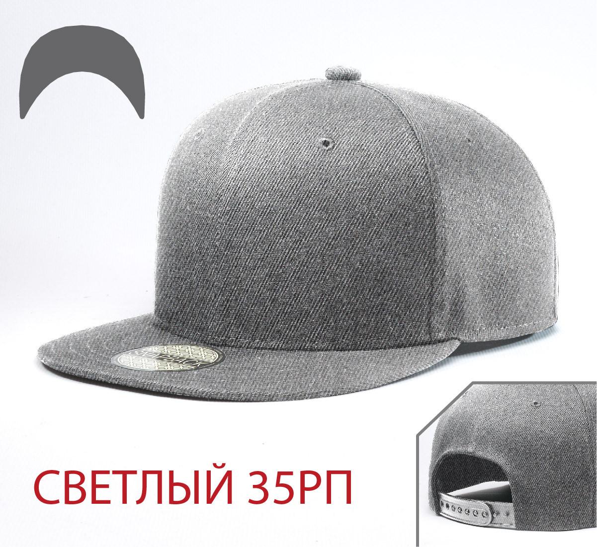 Кепка Снепбек, 6 панелей, L / 57-58 RU, Акрил; Шерсть, Серый, Inal