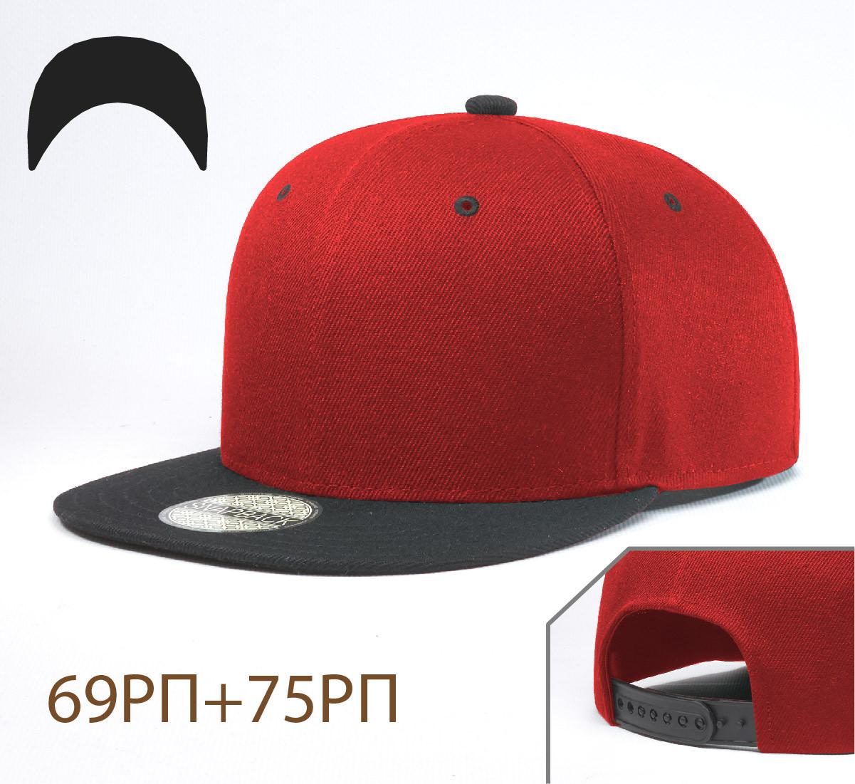 Кепка Снепбек, 6 панелей, L / 57-58 RU, Акрил; Шерсть, Красный, Inal