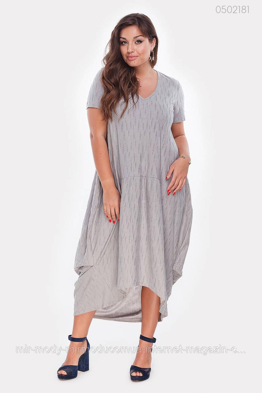 Трикотажное Платье Маракеш-1 (серый)(2 цвета) с  50 по 56 размер (рин)