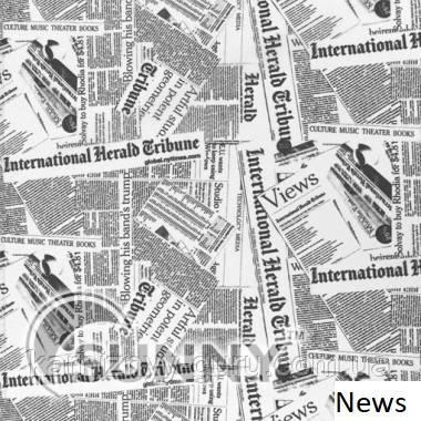 Рулонные шторы для окон в открытой системе Sunny, ткань News