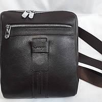 Коричнева шкіряна чоловіча сумка Karya, фото 1