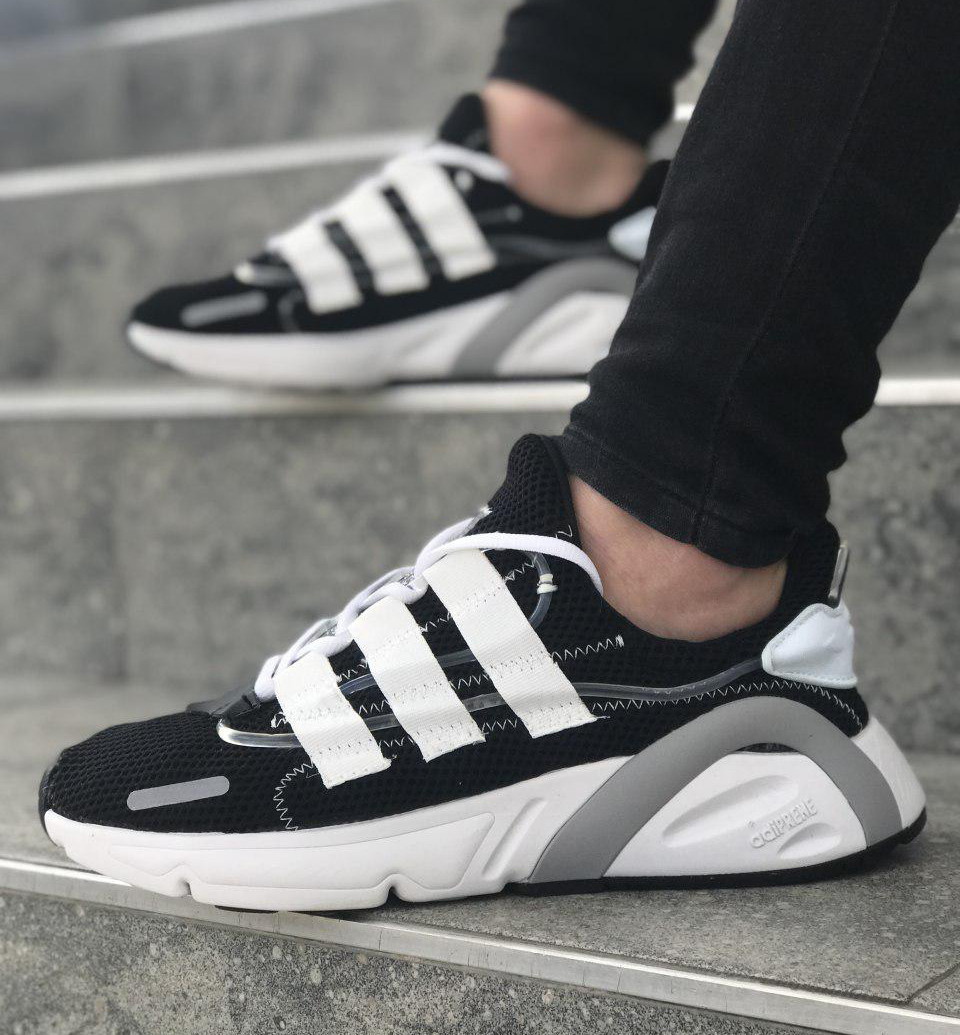 Мужские кроссовки в стиле Adidas Yeezy Boost 600 BlackWhite