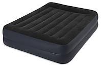 Двуспальная надувная кровать Intex  со встроенным насосом 220В  152x203x42см