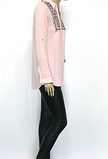 Жіноча сорочка штапель, декорована вишивкою, фото 2