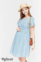 Платье из поплина для беременных и кормящих SHERRY, джинсово-голубой, фото 1