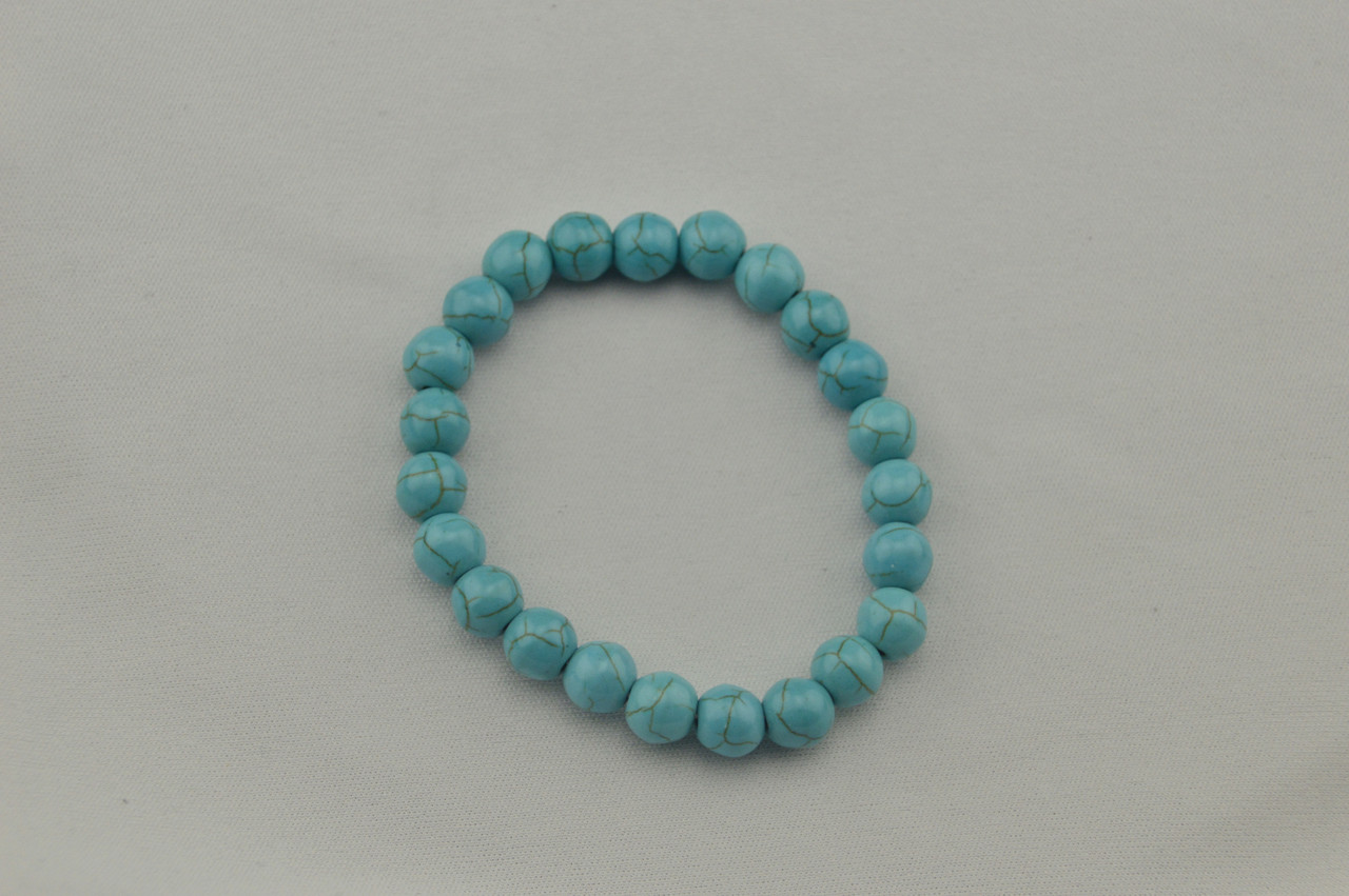 Браслет натуральный камень бирюза голубой цвет
