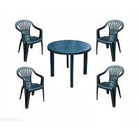 Комплект пластиковой мебели Tondo 4 зелёный, фото 1