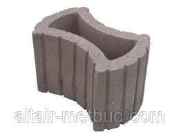Цветник круглый  660*450*250 бетонный серый
