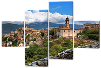 Модульная картина Interno Холст Вид на старый город 146х100см (R267L)